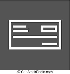 Cheque, draft, receipt icon vector image. Can also be used...