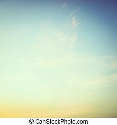 Vintage sky - vintage filter