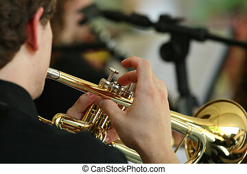 Magic trumpet - A partial view from a trumpet being played...