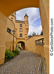 Hohenschwangau Castle - Inside the Hohenschwangau castle in...