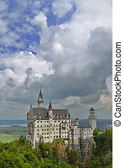 Famous Castle - Famous German Castle Neuschwanstein in...