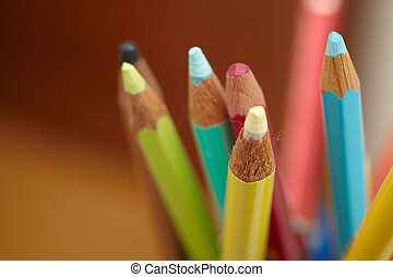 Students accessories - Colouring pencils with space to copy...