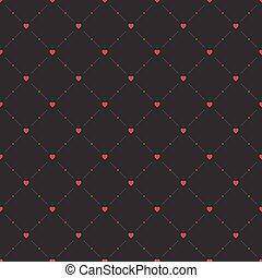Seamless geometric pattern Hearts vector repeating texture