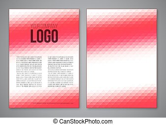 Abstract template - Abstract booklet a4 vector template...
