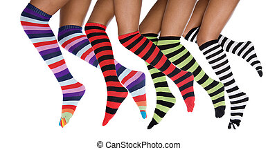 running striped legs - african american legs running, with...