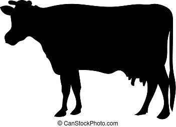 Cow silhouette - a silhouette of cow