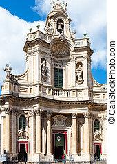 Basilica della Collegiata on via Entnea, Catania