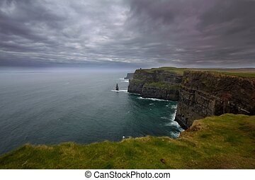 Cliff of Moher - a view of Cliff of Moher,Ireland