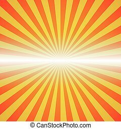 red-yellow color burst background Vector illustration