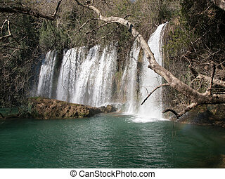 Antalya ,Turkey - Upper Duden Fall in Antalya ,Turkey