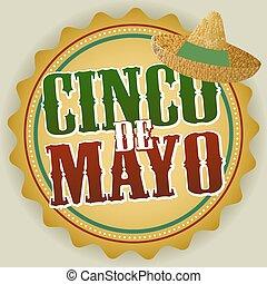 Cinco de Mayo Badge Vector Illustration