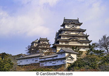 Majestic Castle of Himeji in Japan. - Ancient Samurai Castle...