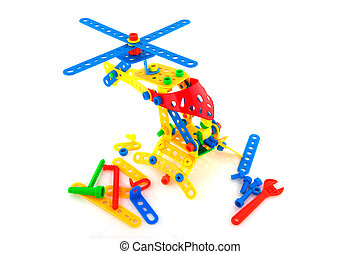 Construction toys - Helicopter made with plastic...