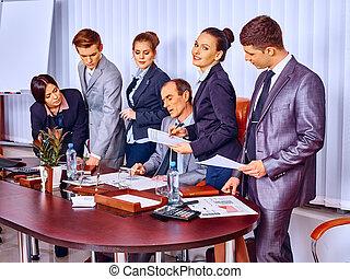 辦公室, 組, 事務, 人們