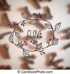 Herbs and Spices Collection - Clove. Hand-sketched...