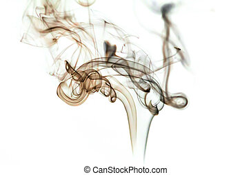 black smoke on a white background - black smoke from...