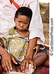 Basarwa child - One of the few remaining Basarwa, San, or...
