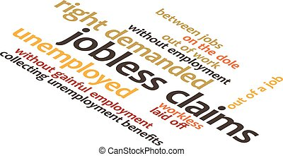 illustration in word clouds of the word Jobless Claims -...