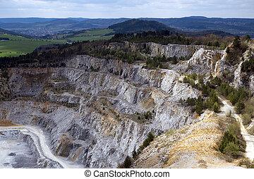 checo, mina, piedra caliza, república,  koneprusy