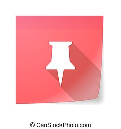Sticky note icon with a push pin