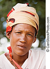 Basarwa adult - One of the few remaining Basarwa, San, or...