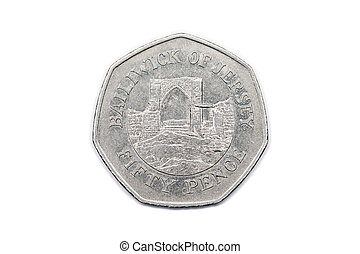 Fifty Pence Jersey 1997 reverse - A fifty pence coin from...
