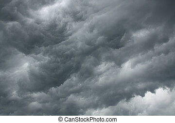 Dramatic stormy sky - Dark storm clouds