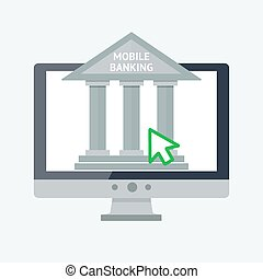 Online banking concept - Vector flat illustration for your...