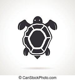 Sea turtle black vector icon