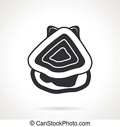 Seafood black vector icon - Single black silhouette icon for...
