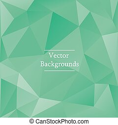Abstract triangles background in green color - Abstract...