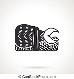 Sushi bento black vector icon - Single black silhouette icon...
