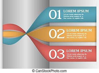 Vector 3D Spiral Infographics