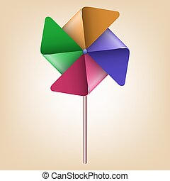 Colorful Pinwheel Windmill Vector