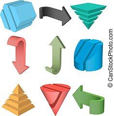 Vector Set of 3D Geometric Shapes - Set of 3D Geometric...
