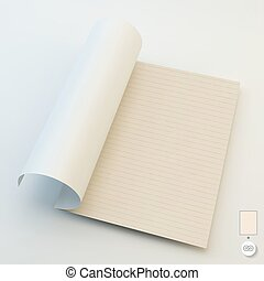 Seamless lined paper 3d vector illustration - Seamless lined...