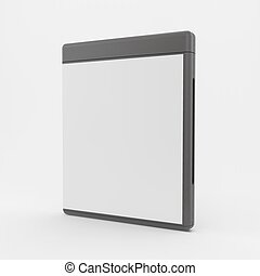 Blank DVD-case or CD-case. 3d vector illustration.