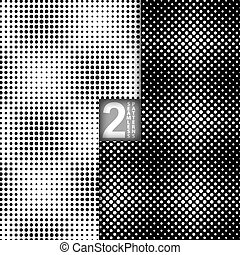 Vector Halftone Seamless Pattern - Halftone Dots Style...