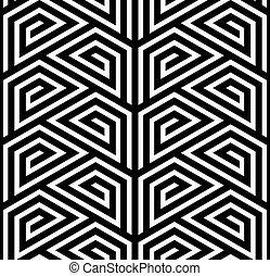 圖案, 矢量,  seamless, 之字形