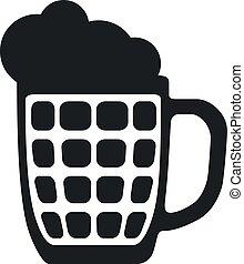Vector Glass Beer Mug Icon - Glass Beer Mug Icon, Vector...