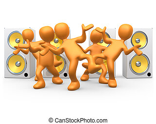 Dance To The Music - Computer Generated Image - Dance To The...