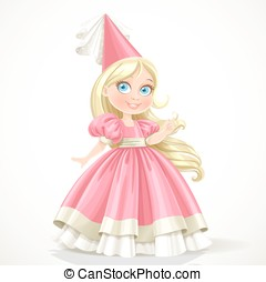 Little princess with long blond hair - Little princess in a...