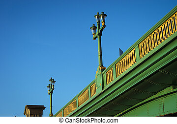 Lamp on Southwark bridge - Looking up to a lamp on Southwark...