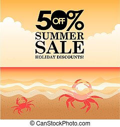 summer sale design, vector illustration eps10 graphic