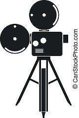 Movie Camera, Vector Icon