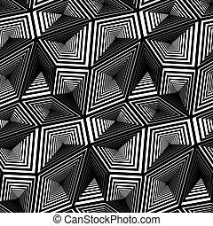三角, ベクトル, Seamless, パターン,