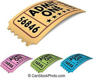 Admit One Cinema Ticket Vector