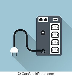 UPS Icon Vector Illustration - UPS Uninterruptible Power...