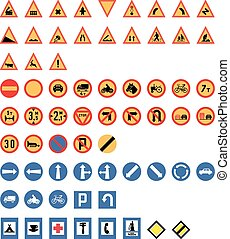Vintage Road Signs Set Vector - Vintage Road Signs Set from...