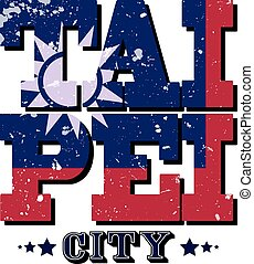 Taipei City T-shirt Typography Graphics, Vector Illustration